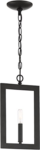 - Craftmade 44991-ESP Portrait Geometric Mini Pendant Lighting, 1-Light, 60 Watts, Espresso (8