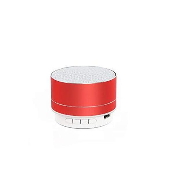 Haut-Parleur Portable Bluetooth étanche Voyage en Plein airHaut-Parleur sans Fil Bluetooth subwoofer de Carte Son d'ordinateur d'ordinateur Rouge 70mmx45mm 1