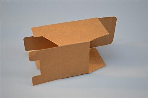 Lavenz - 20 cajas de papel kraft cuadradas de 10 x 10 x 10 cm, color blanco, cajas de regalo con ventana de papel negro: Amazon.es: Oficina y papelería