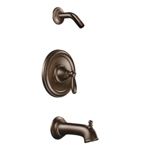 Moen T2153NHORB Brantford Posi-Temp Pressure Balancing Tub and Shower Trim Kit without Showerhead, Valve Required, Oil-Rubbed Bronze (Moen Tub Shower Trim Kit Oil Rubbed Bronze)