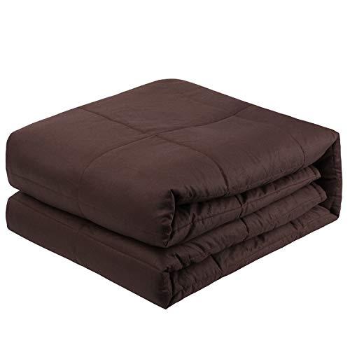 Cheap Hamonical Weighted Heavy Blanket - Original Slumber Weighted Blanket - New Concept of Sleep Luxury Comfortable Sleeping Warm and Close (Dark Brwon 60
