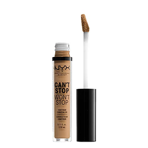 NYX PROFESSIONAL MAKEUP Can't Stop Won't Stop Contour Concealer, Golden, 0.11 Ounce