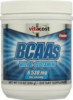 BCAA Glutamine avec Vitacost et la vitamine C - 6530 mg par portion - 7.5 oz
