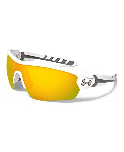 Under Armour Rival 8600090-110941 Shield Sunglasses, Satin White/Charcoal Gray, 42 mm