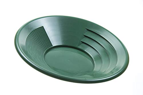 SE GP1014G14 14' Green Plastic Gold Pan with Two Types of Riffles
