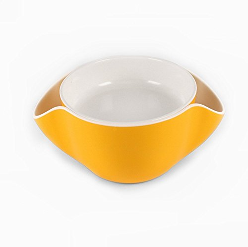 Selling Wonderful Melamine Double Dish Serving Bowls - Bowls With Shell Storage Dish For Nuts, Pistachios, Peanuts, Cherries, Fruits, Candies, Snacks by SWTool