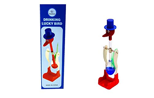 C&H Solutions Famous Retro Perpetual Motion Magic Drinking Bird - Toy Bird Drinking