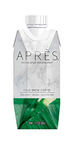 Après Protein-Based Replenishment Drink Cold Brew Coffee (11 FL OZ, 12 Count) Non-GMO, Vegan, Plant-Based, Dairy-Free, Gluten-Free, Soy-Free, Kosher, Contains 95mg of Caffeine (12 Bottles)