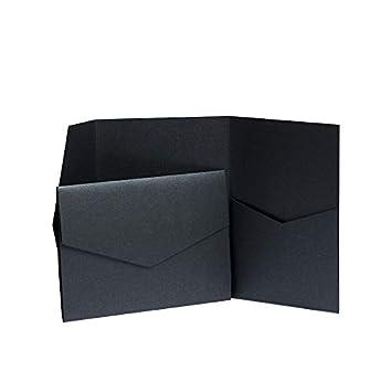 Pocketfold inviti effetto perlato colore: nero ebano 130 x 185 mm nero