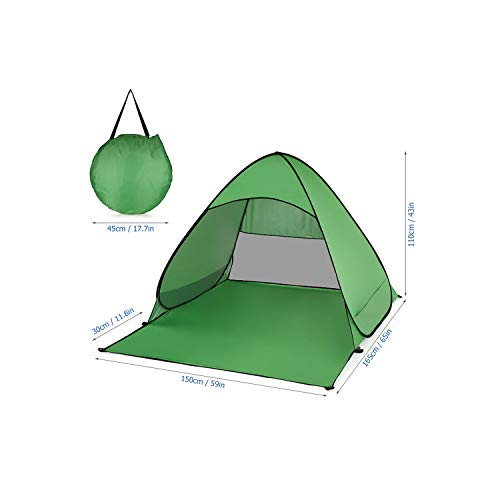 Beach Tents Large Size Uv Protection Outdoor Camping Tent Instant Open Automatic Tent Summer Fishing Cabana Sun Shelter,Green