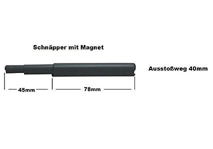 5 x Grau Druckschnäpper Druck Möbelschnäpper Schnäpper Federschnäpper