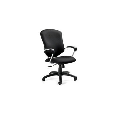 Supra High Back Pneumatic Tilter Chair Fabric: Black (Back Pneumatic Tilter)