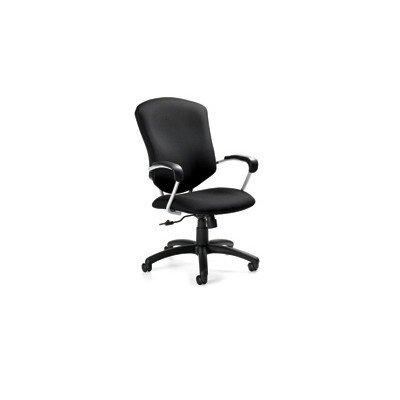 Supra High Back Pneumatic Tilter Chair Fabric: Black -