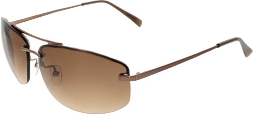 Giorgio Armani Men's GA498S-CFA63-64 Brown Semi-Rimless - Armani Giorgio Outlet