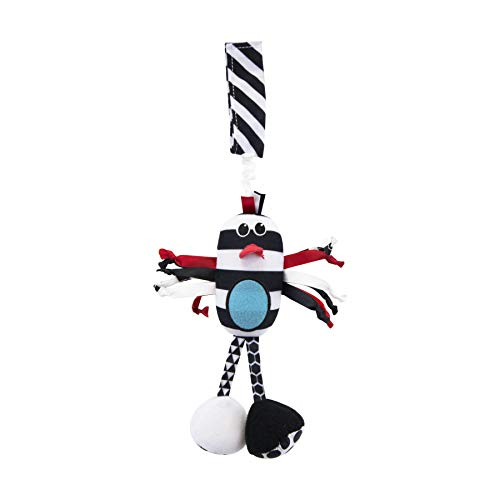 Sassy Black & White Boppin Birdie with Repositional Strap for On-The-Go Fun, Ages 0+ Months]()