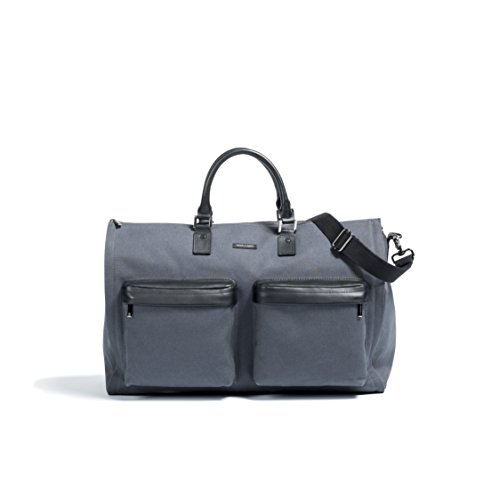 Hook & Albert Garment Weekender Bag (Dark Gray) by HOOK & ALBERT