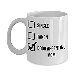 Valentine's Day Dogo Argentino Mom Mug - White 11oz 15oz Ceramic Tea Coffee Cup - Perfect For Travel And Gifts 10