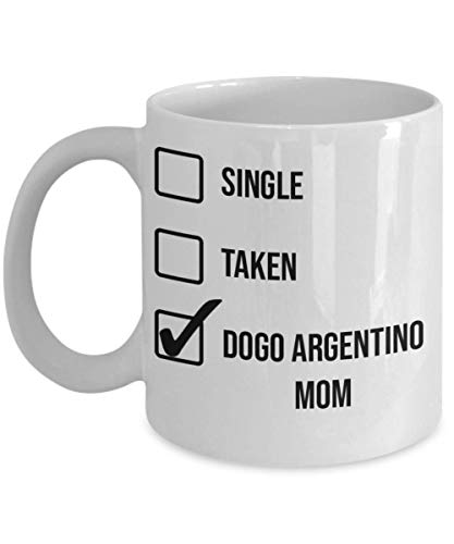 Valentine's Day Dogo Argentino Mom Mug - White 11oz 15oz Ceramic Tea Coffee Cup - Perfect For Travel And Gifts 1