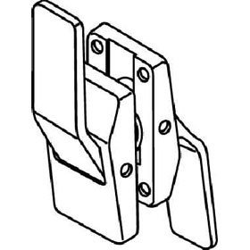 Trimco 1580A Push/Pull Hospital Latchset, 5'' latch, ''T'' Strike - Push Lever Up, Pull Lever Down, Right Hand Swinging In ''Hinge Side'', Satin Chrome Plated Over Nickel by Trimco Hospital Latches