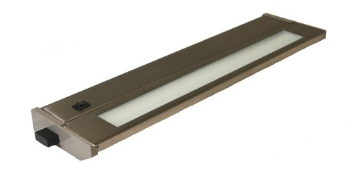 T2 Fluorescent Under Cabinet Light (American Lighting 043T-14-BS Hardwire Fluorescent Under Cabinet Lighting, 8-Watt Lamp with On/Off Switch, 120-Volt, Brushed Steel, 14-Inch)