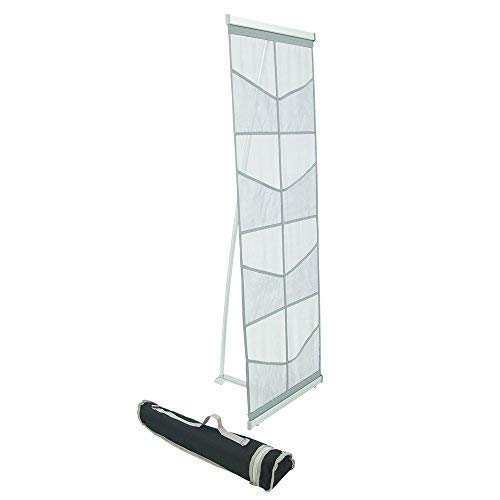 Floor Roll (Mesh Floor Catalog Rack - Roll Out Brochure Holder 8 Pockets - Portable Literature Display)