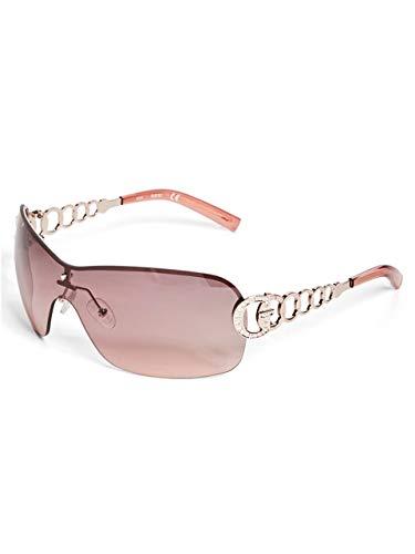 (GUESS Factory Women's Rimless Shield Sunglasses)