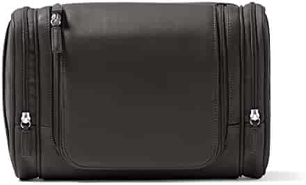 2ac4cce789 Leatherology Multi Pocket Hanging Toiletry - Full Grain Leather - Black  Onyx (black)