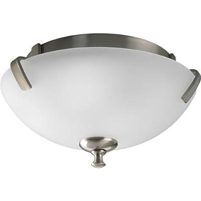 Progress Lighting P3290-09 2-Light Close-To-Ceiling Fixture, Brushed Nickel