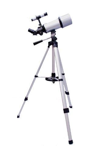 Silver TwinStar AstroMark 80mm Dual Tripod Refractor Telescope by Twin Star
