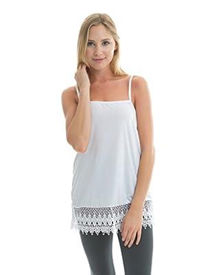 Kolouri Women's Lace Shirt Extender Camisole Tank Top