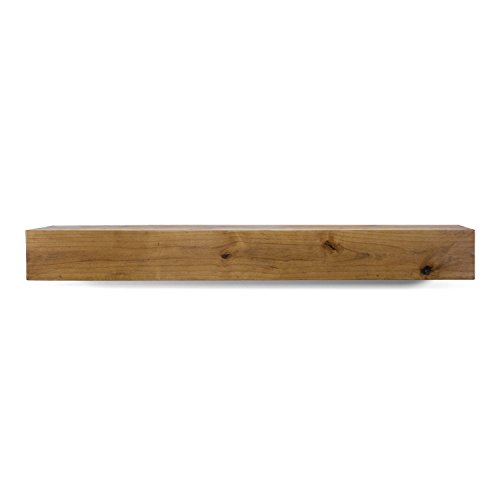 "Dogberry Collections Modern Farmhouse Mantel Shelf, 72"", Aged Oak"