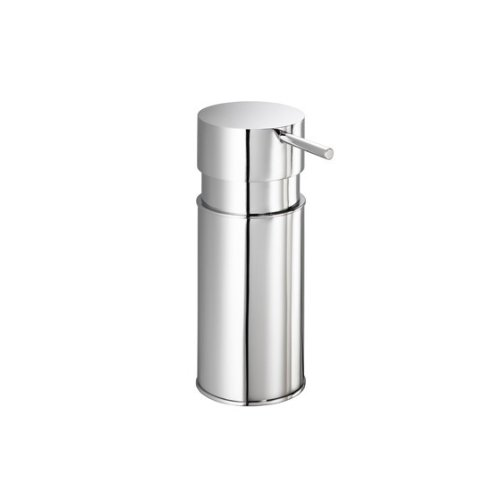 Gedy Kyron Round Countertop Soap Dispenser, Chrome by Gedy