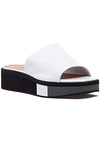 (Robert Clergerie Womens Quenor Open Toe Casual Platform Sandals, White, Size 5.5)