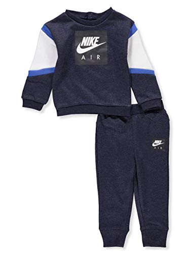 Nike Baby Boys' 2-Piece Sweatsuit Pants Set - Obsidian Heather, 12 Months (Infant Boy Nike Clothing)