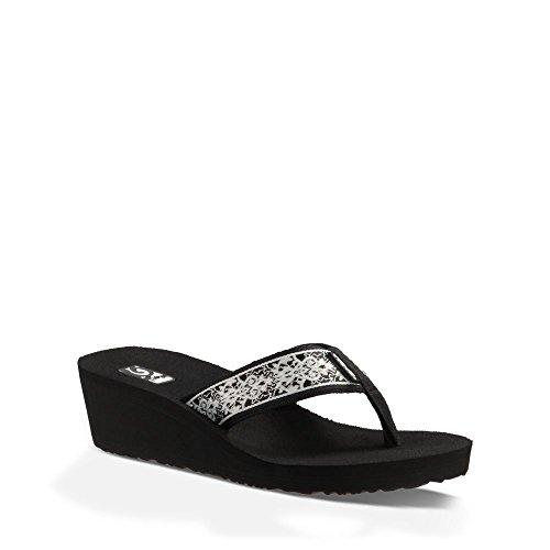 Teva Women's Mush Mandalyn 2 Wedge Flip Flop, Pintura Black, 6 M US