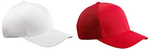 Baseball Cap Set (Yupoong Flexfil Ultrafibre Structured Caps Set_White / Red_Small /)