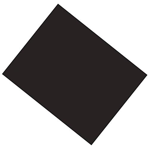Pacon PAC53941 Coated Poster Board, Black, 22'' x 28'', 25 Sheets by Peacock