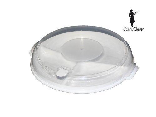 1 de color blanco para microondas con tapa y ventilación + ...