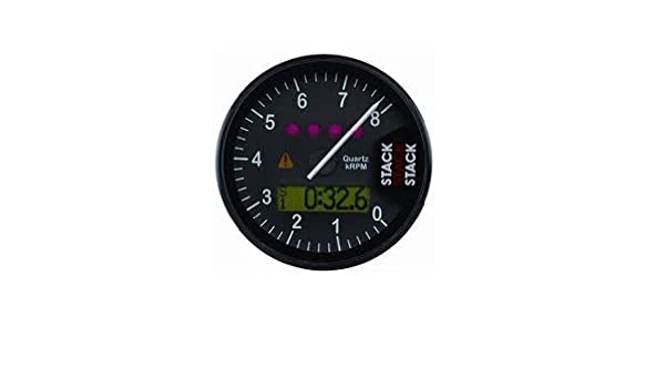 Stack ST700M-01075W White 0-10.75k RPM Dash Tachometer with Speed Sensor Lap Timing Beacon and Receiver