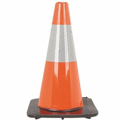 18'' Orange Traffic Cone with 6'' 3M Reflective Collar
