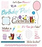 See D's Birthday Bash Invitation Rubber Stamps and Case # 50093 Inque Boutique SugarLoaf