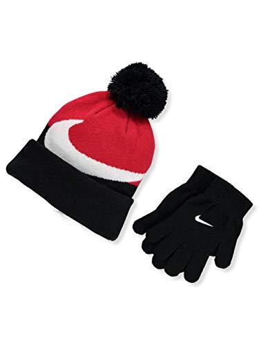 NIKE Boys' Beanie & Gloves Set (Youth One Size) - Blue/Multi, one Size