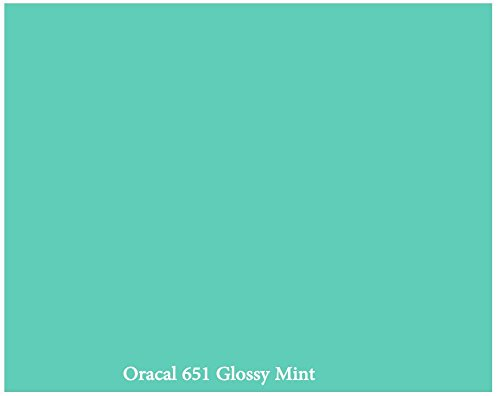 mint-glossy-12-x-10-foot-roll-of-oracal-651-permanent-adhesive-backed-vinyl-for-craft-cutters-punche