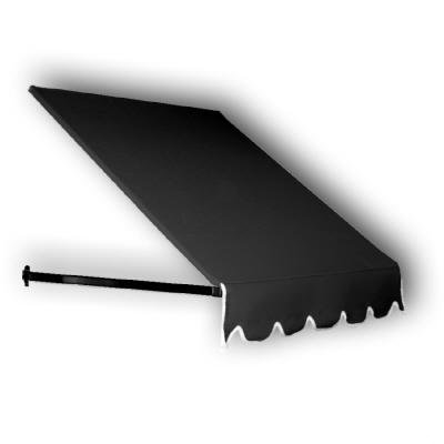 Awntech 5-Feet Dallas Retro Awning for Low Eaves, 18 by 36-Inch, Black by Awntech