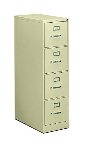 HON 4-Drawer Filing Cabinet - 310 Series Full-Suspension Letter File Cabinet, 26-1/2-Inch Drawers, Putty (H314) (Renewed)
