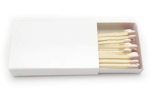 250 Plain White Cover Wooden Matches Box Matches (5 BOXES OF 50)