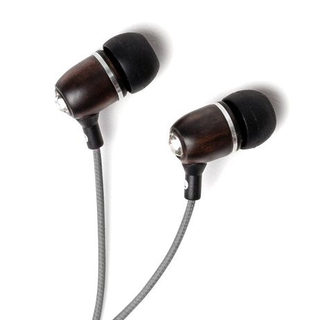Symphonized BLING Premium Genuine Wood In-ear Noise-isolating Headphones with Mic and Nylon Cable