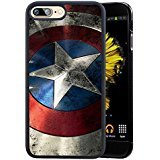 Captain America iPhone 7 Plus 5.5' Case, Onelee [Never fade] Winter Soldier Black TPU and PC Case for iPhone 7 Plus 5.5' [Scratch proof] [Drop Protection]
