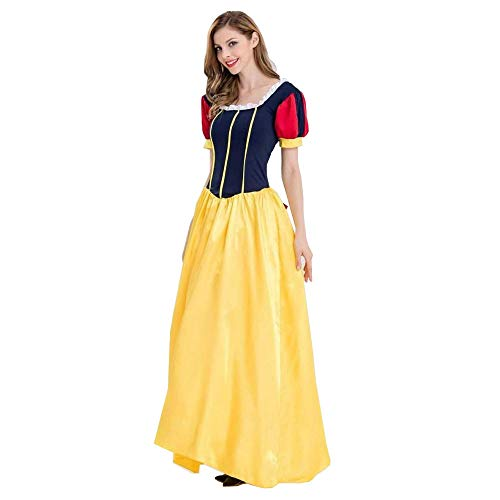 (Peachi Women Halloween/Christmas Ball Transvestite Snow White Skirt Fancy Dress Adult Christmas Party Cosplay Costume)