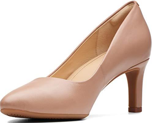 CLARKS Women's Calla Rose Shoe, Praline Leather, 75 M ()
